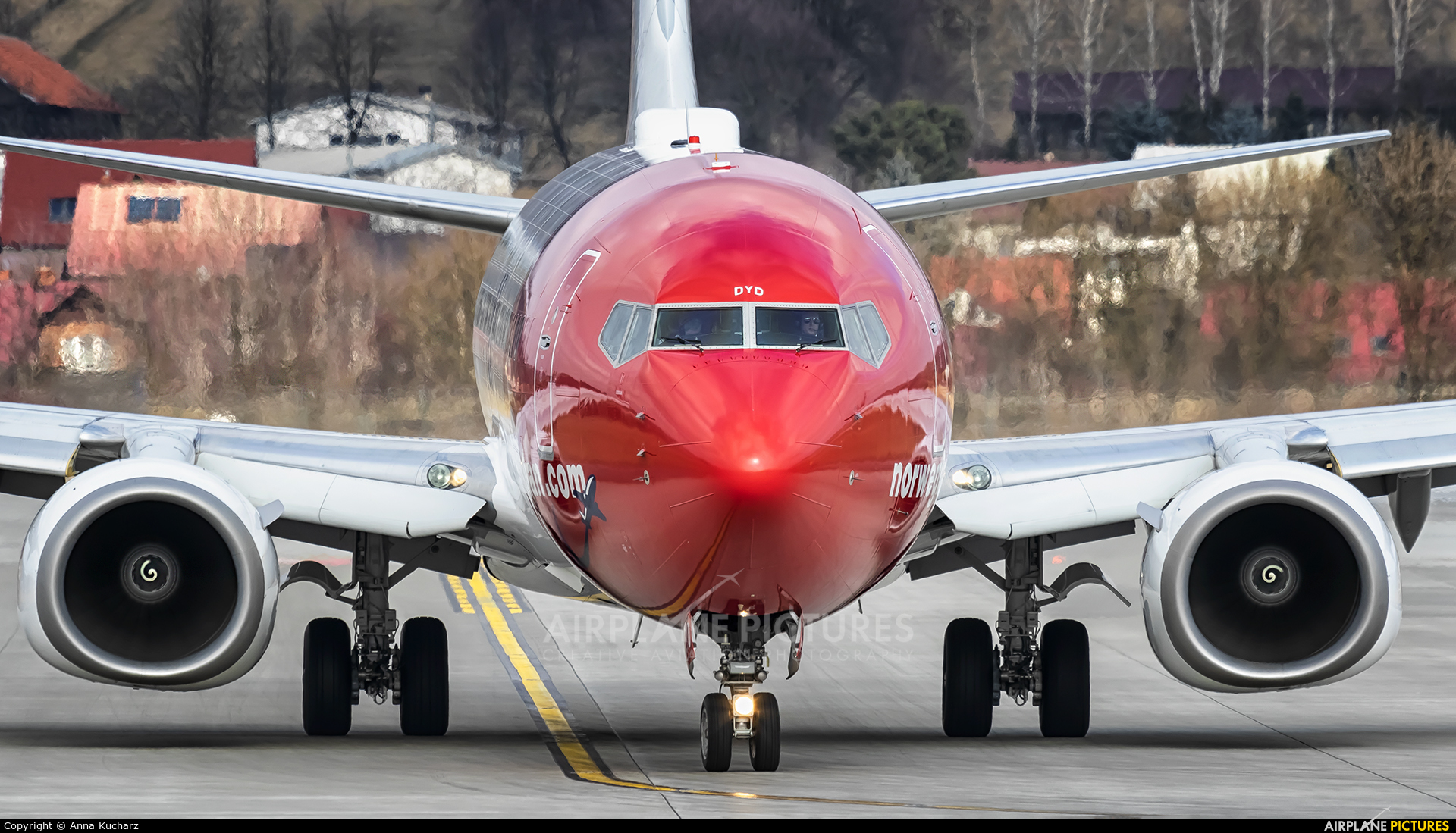 Norwegian Air Shuttle LN-DYD aircraft at Kraków - John Paul II Intl