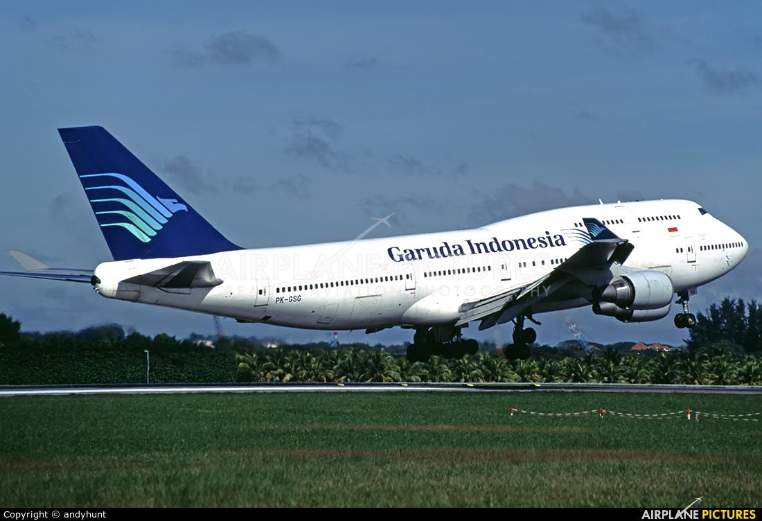 Garuda Indonesia PK-GSG aircraft at Singapore - Changi