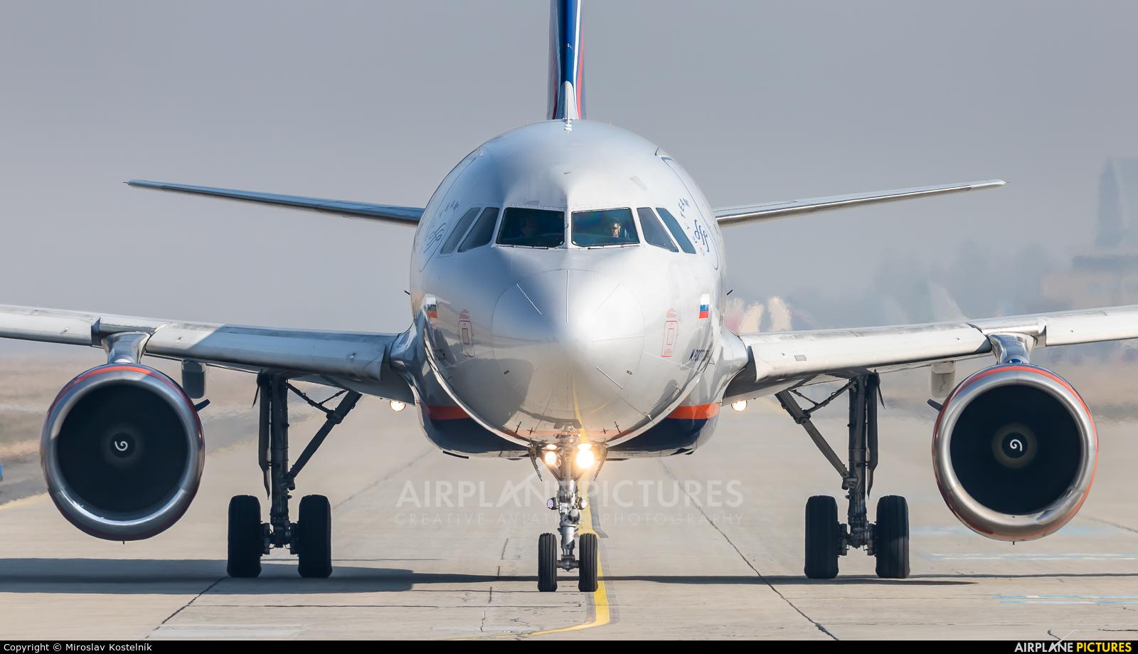 Aeroflot VP-BKY aircraft at Ostrava Mošnov
