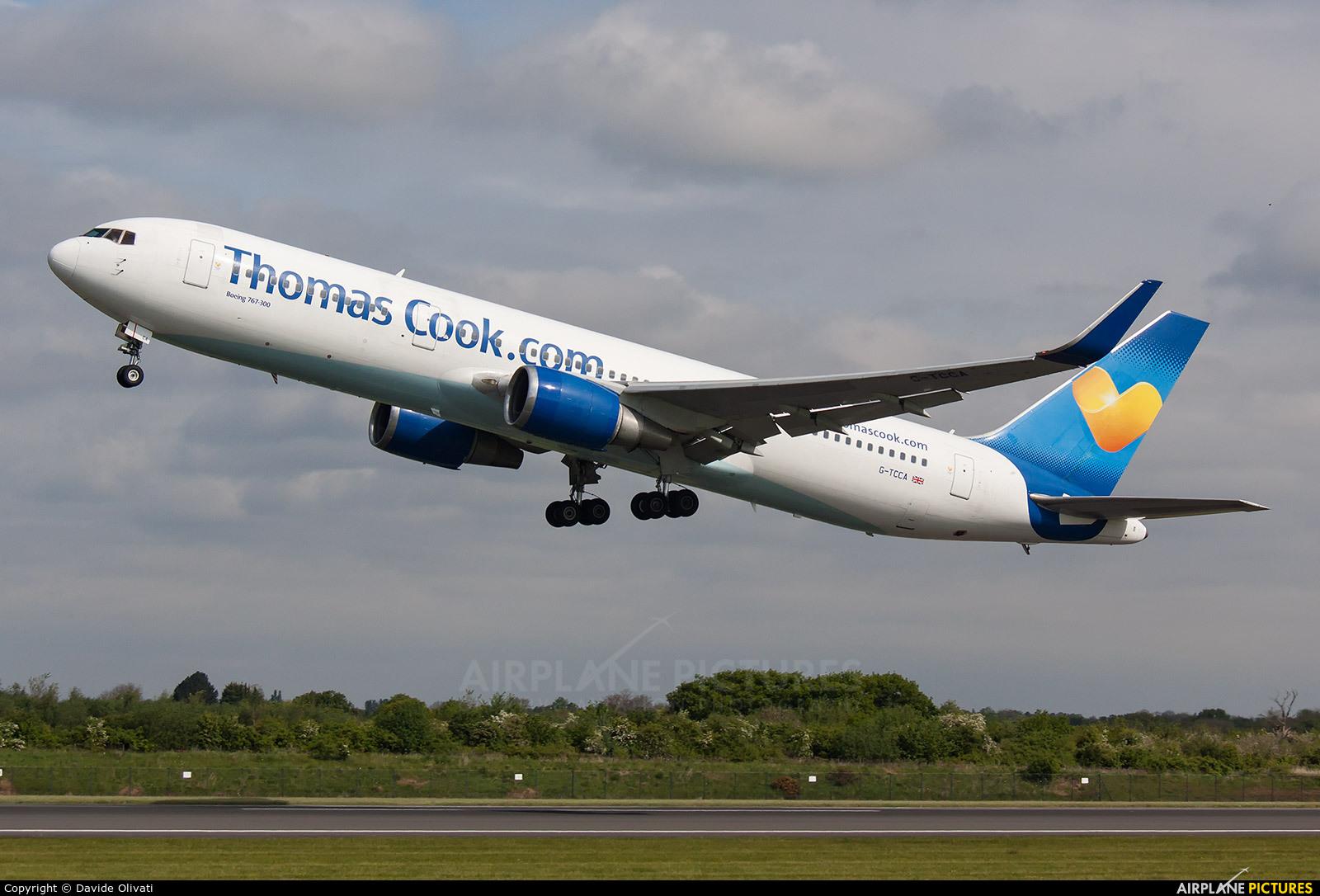 Thomas Cook G-TCCA aircraft at Manchester