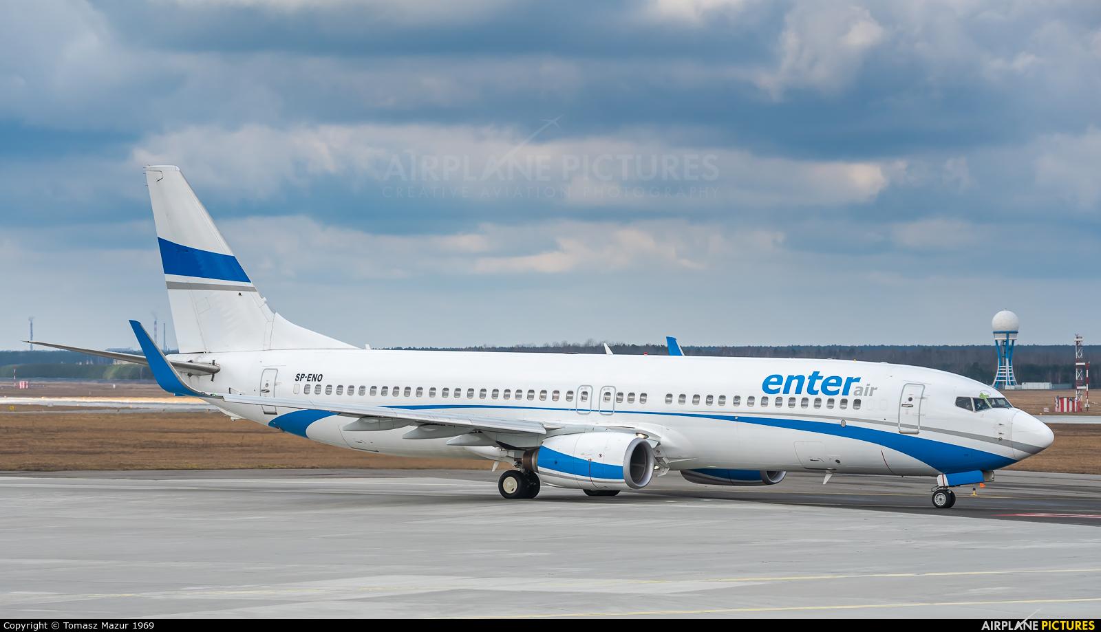 Enter Air SP-ENO aircraft at Katowice - Pyrzowice