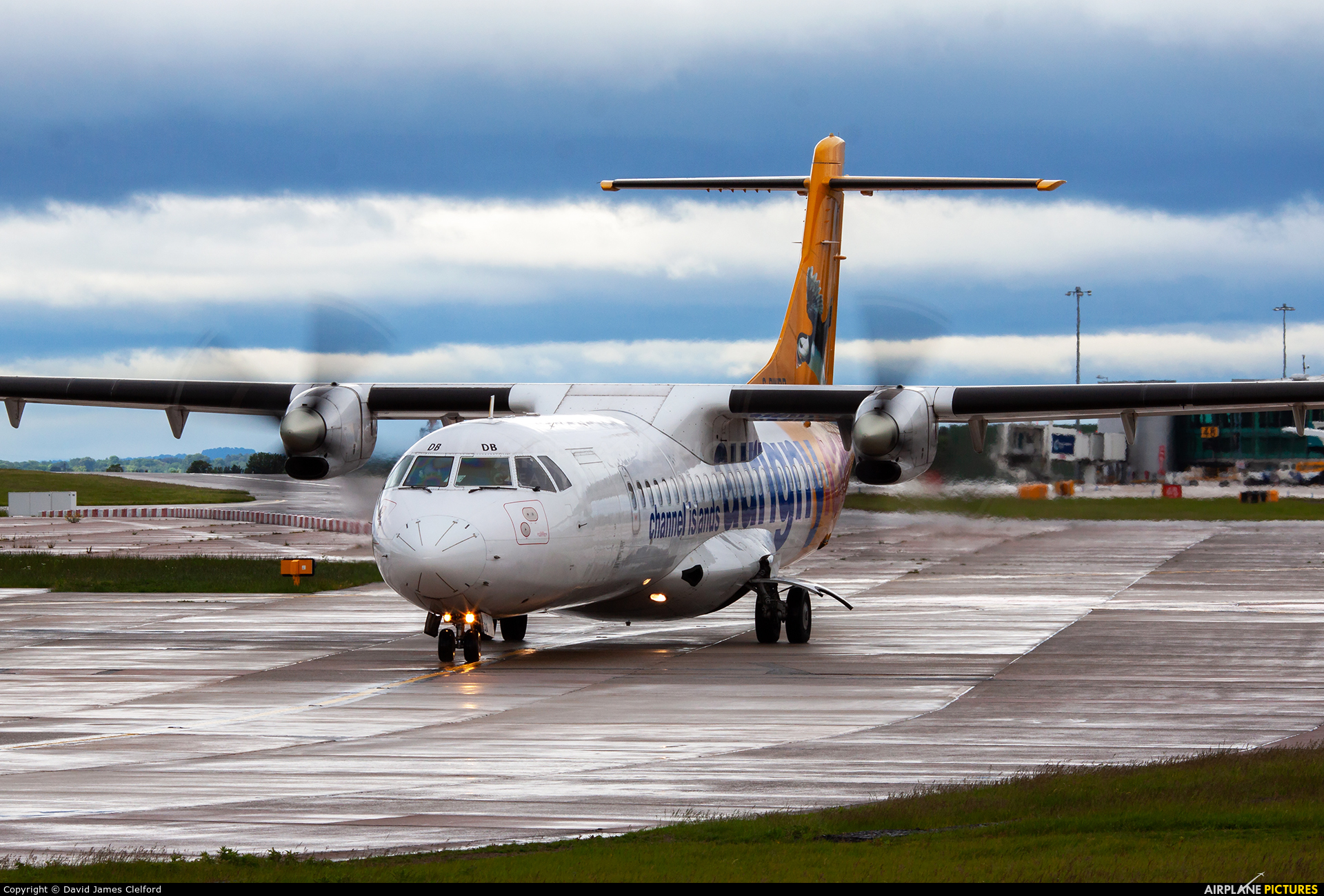 Aurigny Air Services G-BWDB aircraft at Manchester