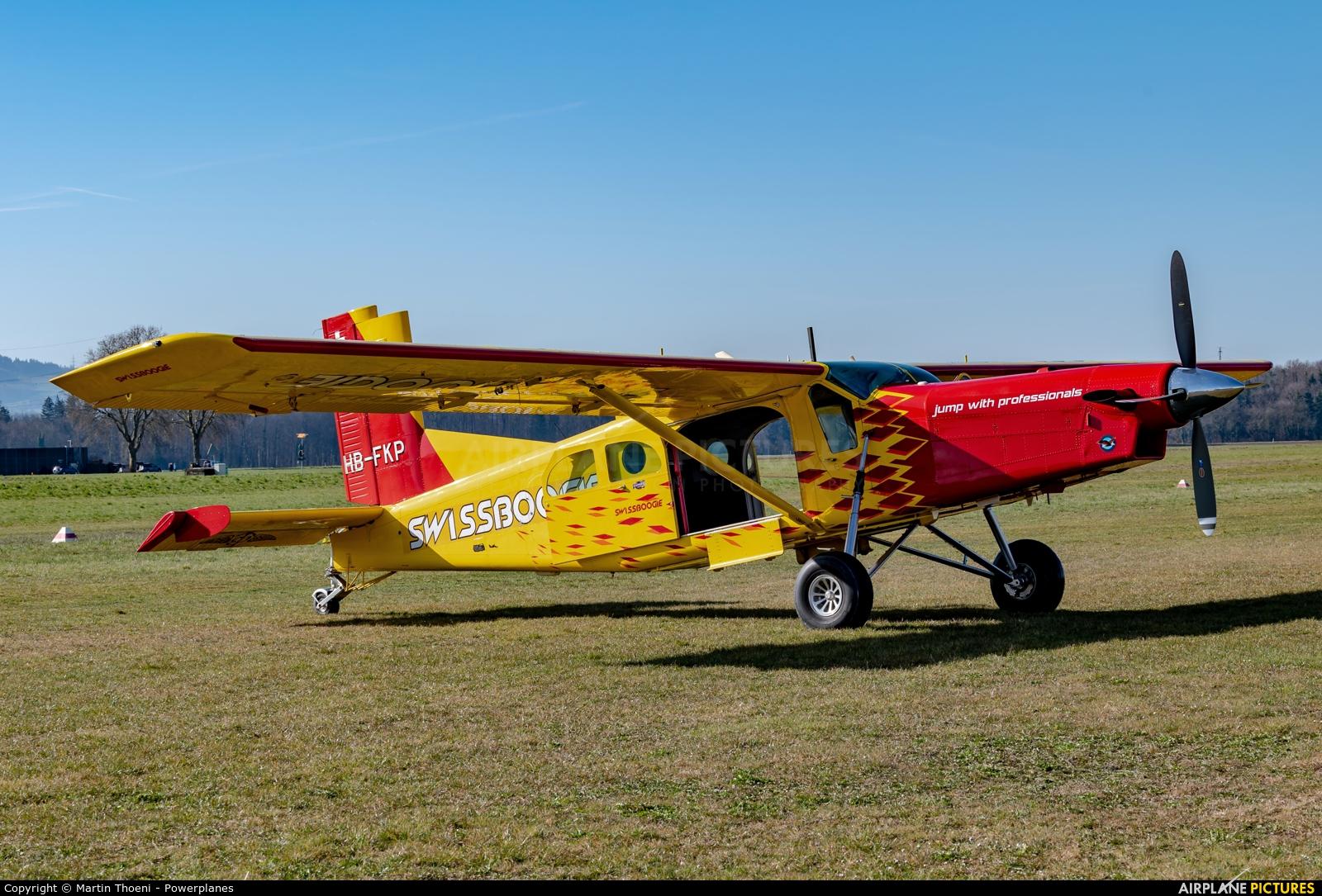 Private HB-FKP aircraft at Biel-Kappelen