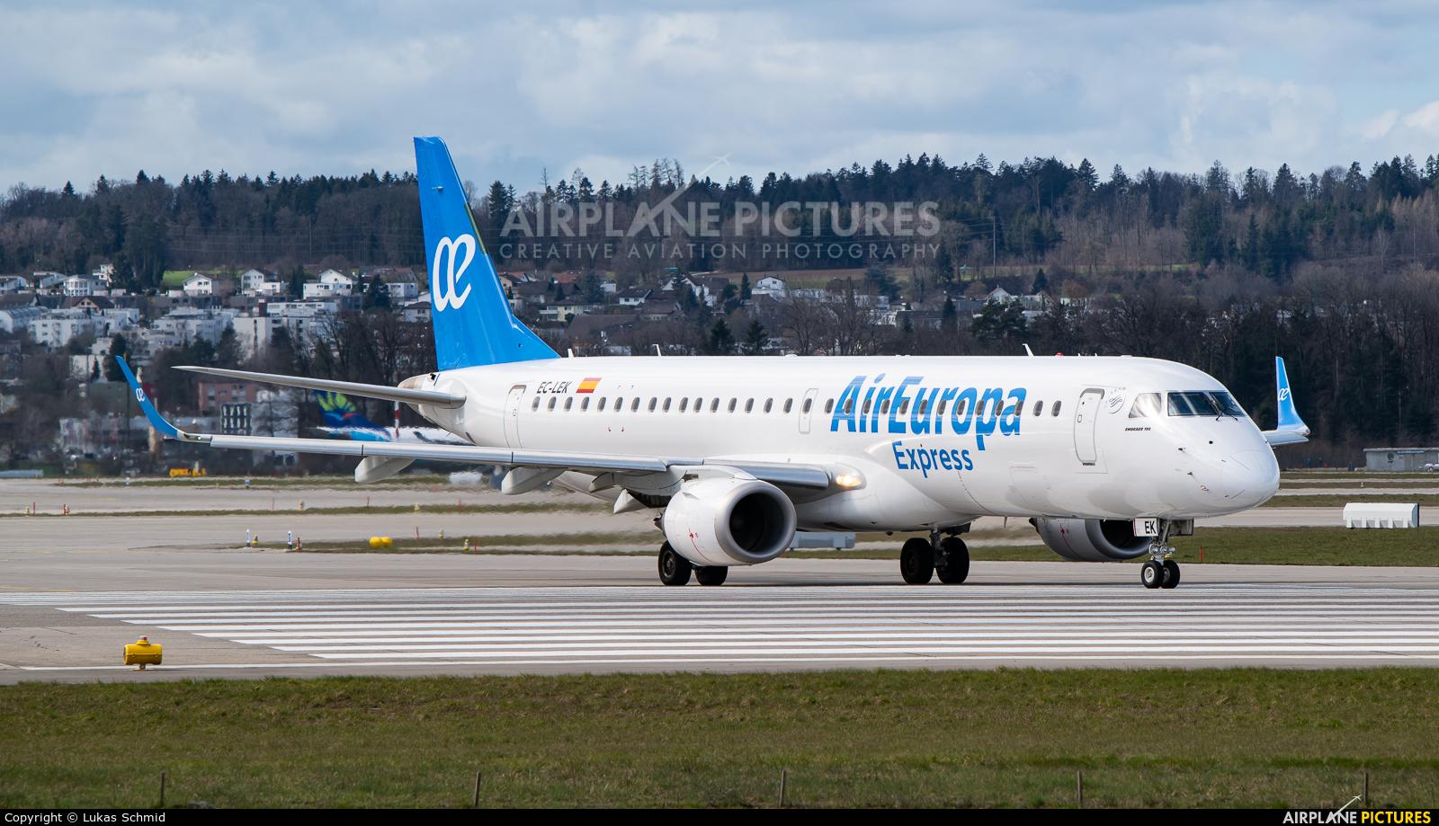 Air Europa Express EC-LEK aircraft at Zurich