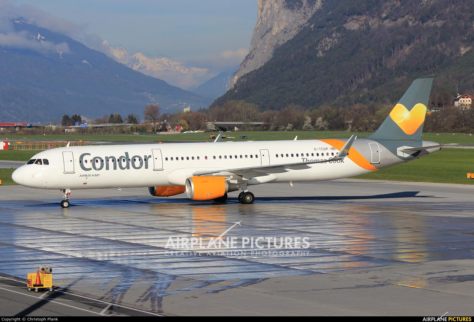 Thomas Cook G-TCDP aircraft at Innsbruck