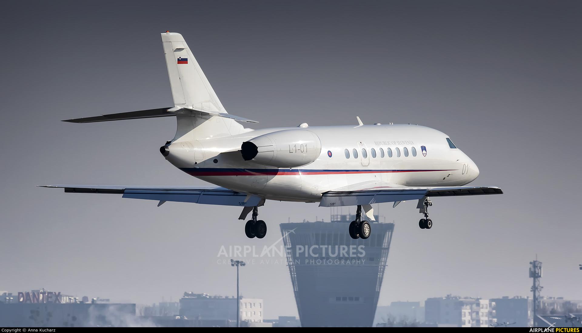 Slovenia - Government L1-01 aircraft at Warsaw - Frederic Chopin