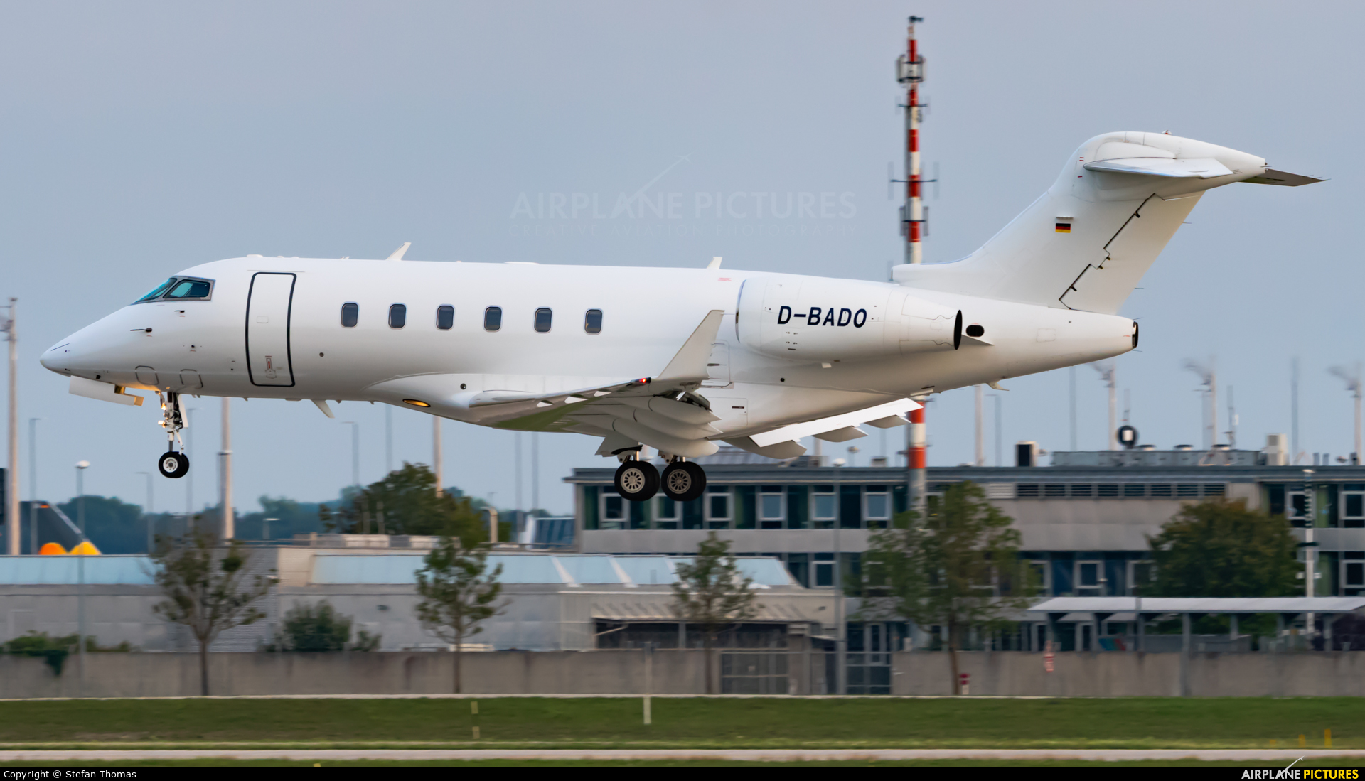 Private D-BADO aircraft at Munich