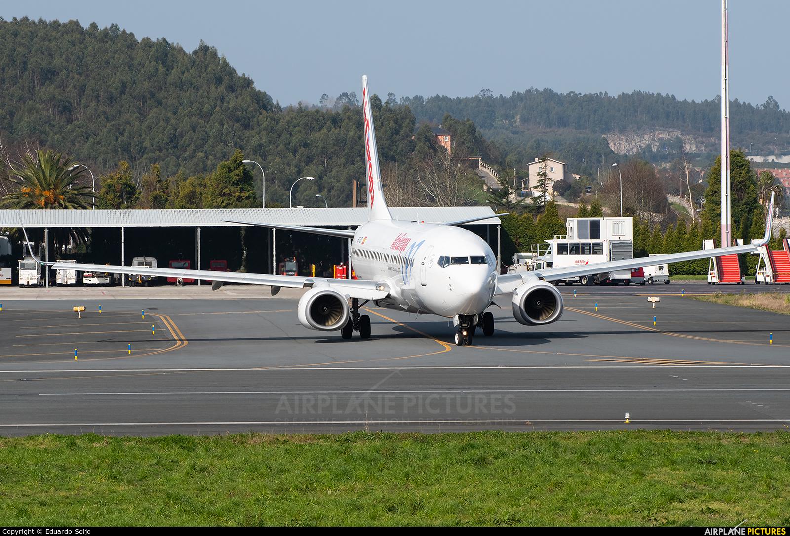 Jet2 EC-IDT aircraft at La Coruña