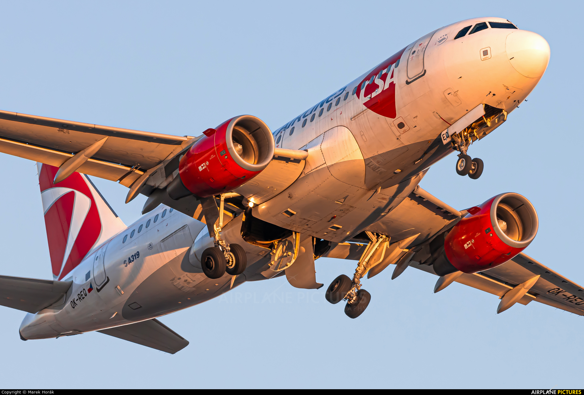 CSA - Czech Airlines OK-REQ aircraft at Prague - Václav Havel