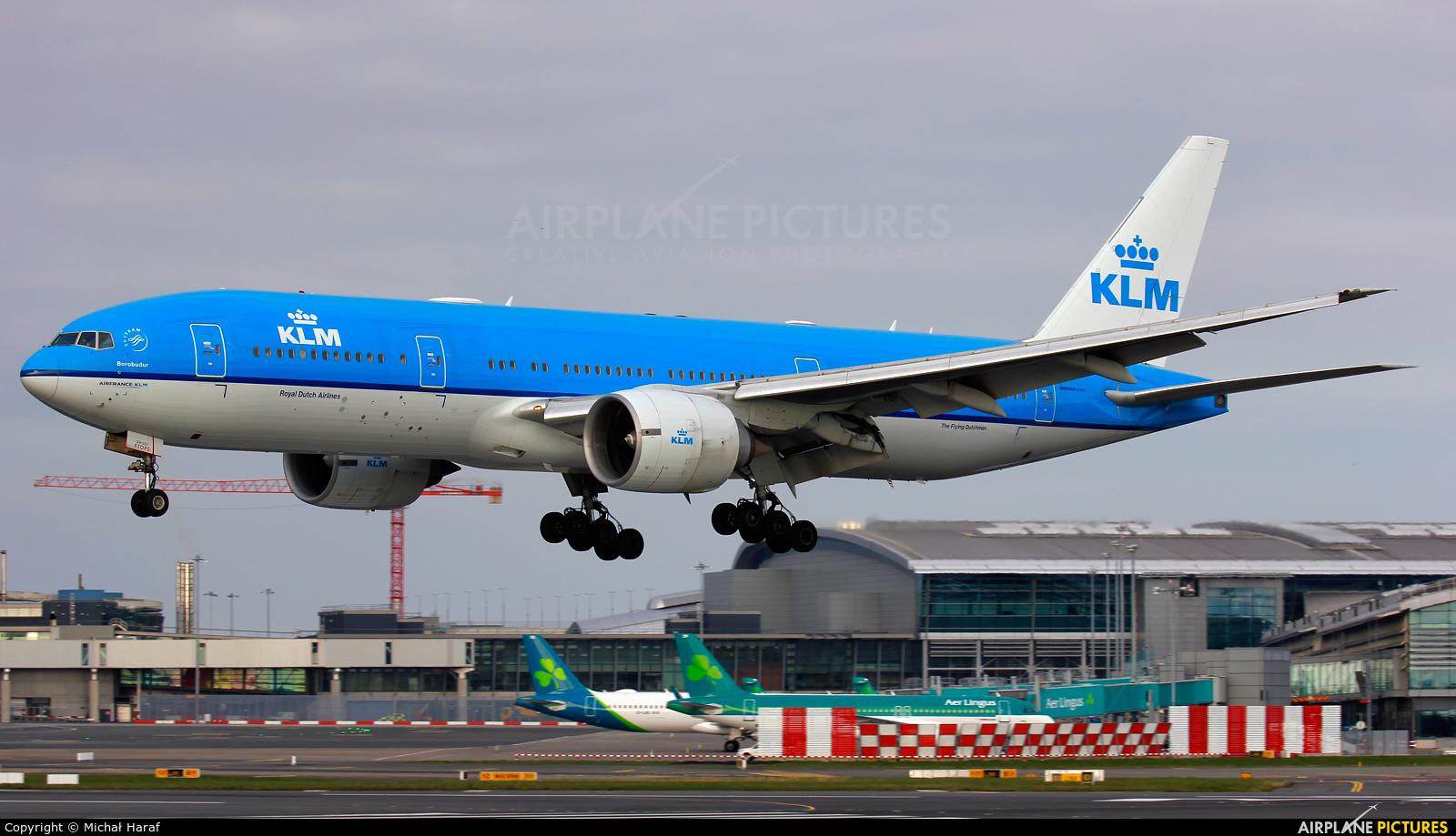 KLM PH-BQB aircraft at Dublin