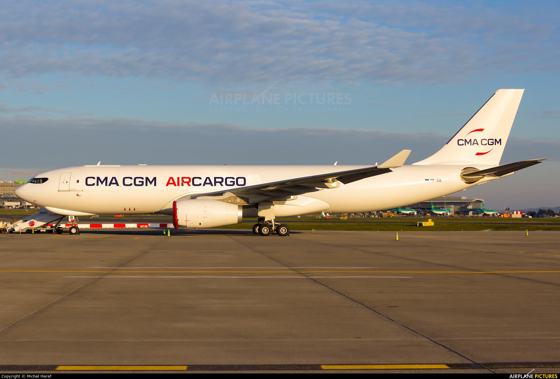 CMA CGM Aircargo (Air Belgium) OO-AIR aircraft at Dublin