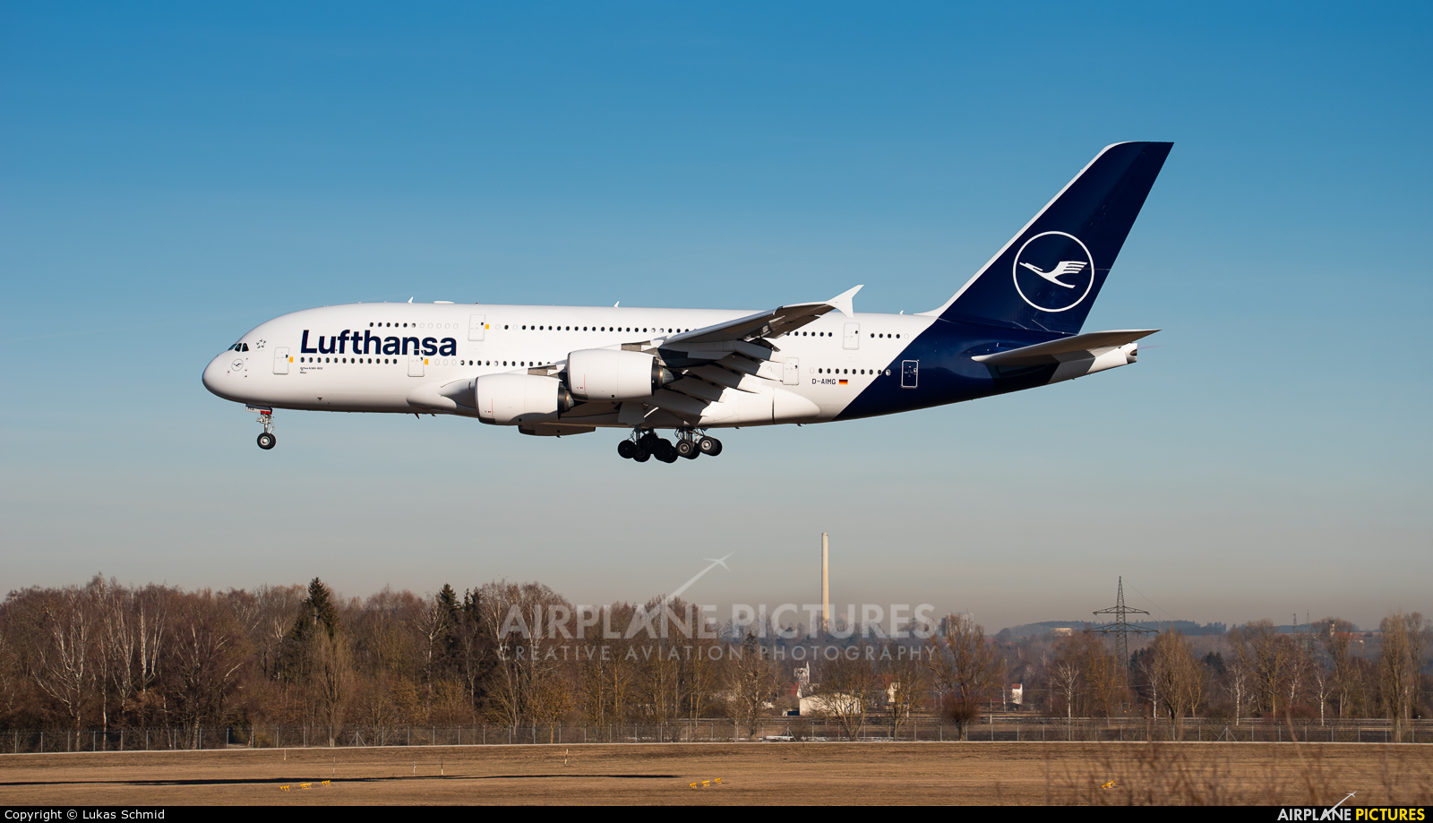 Lufthansa D-AIMG aircraft at Munich