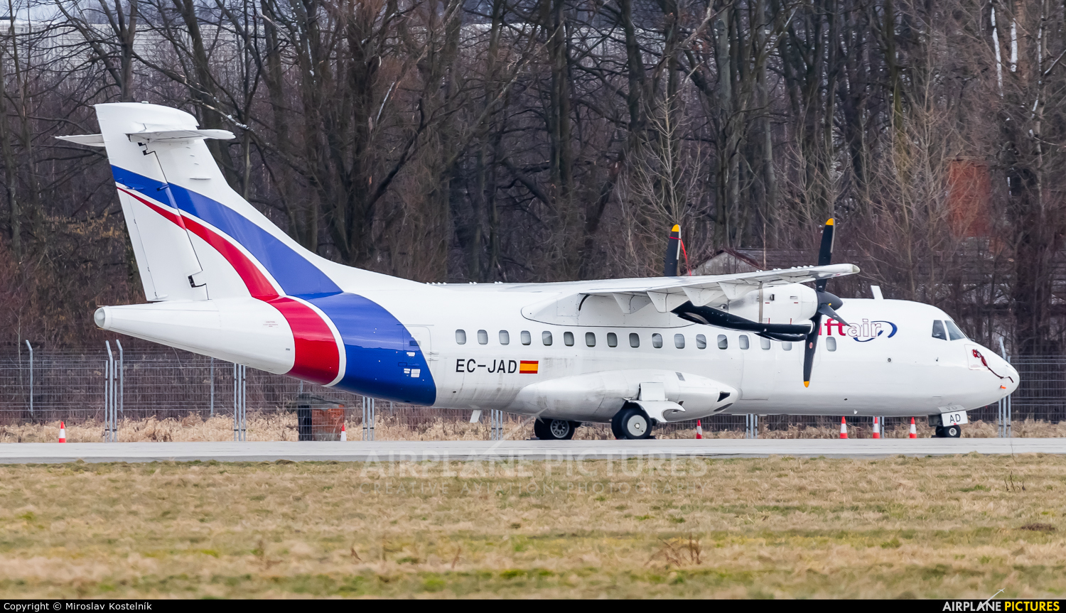 Swiftair EC-JAD aircraft at Ostrava Mošnov