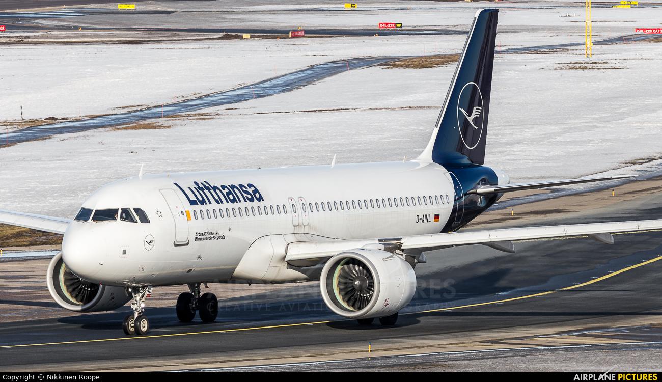 Lufthansa D-AINL aircraft at Helsinki - Vantaa