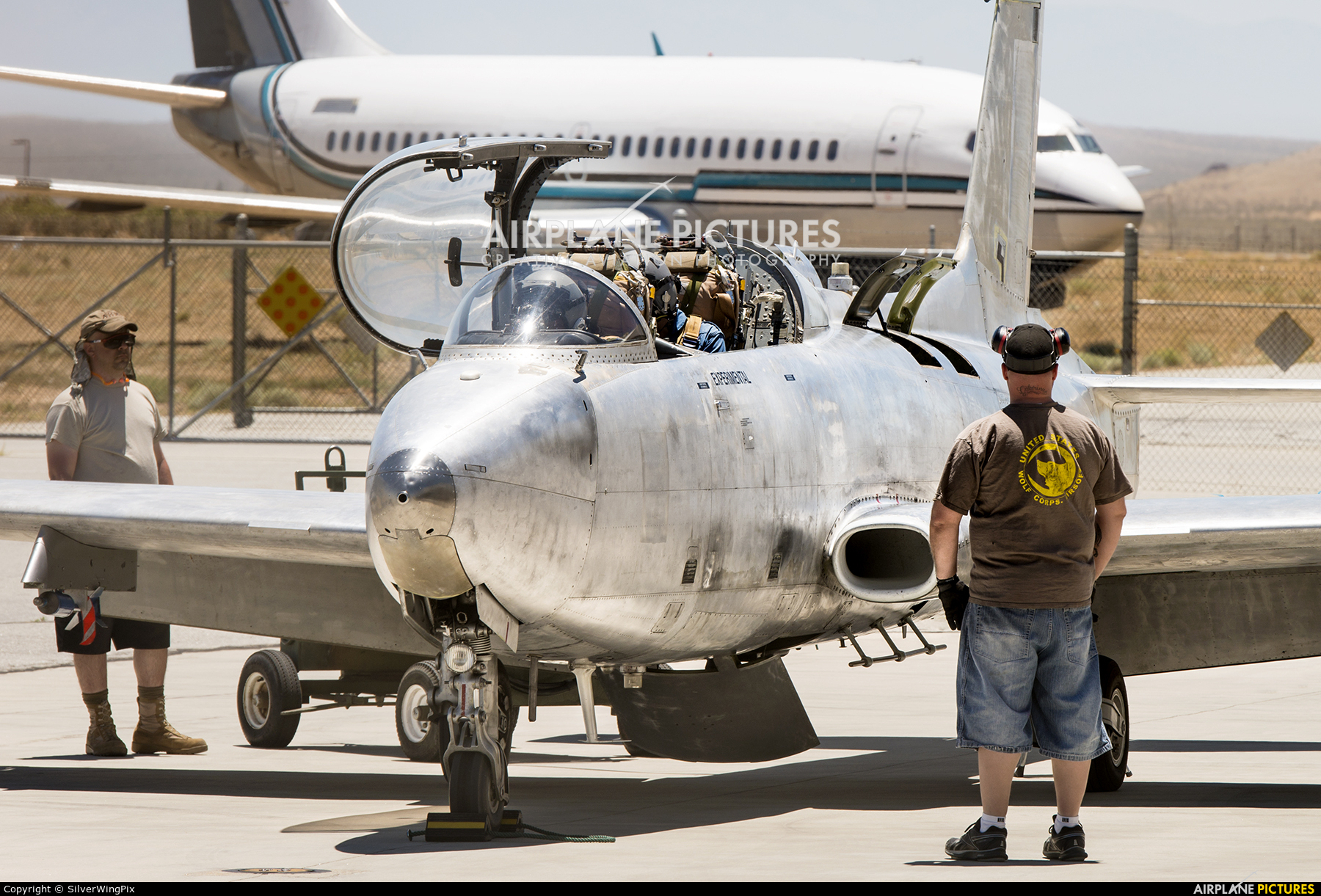 National Test Pilots School N155TP aircraft at Mojave