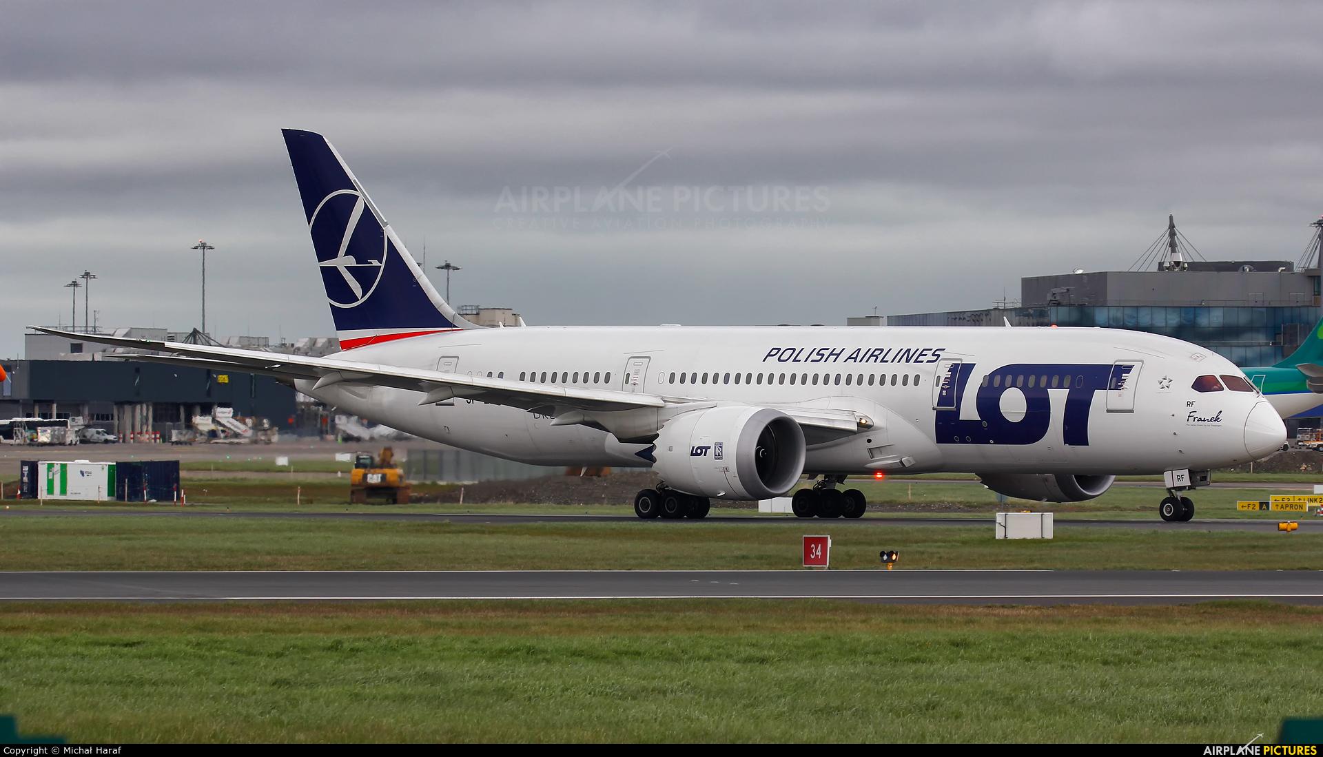 LOT - Polish Airlines SP-LRF aircraft at Dublin