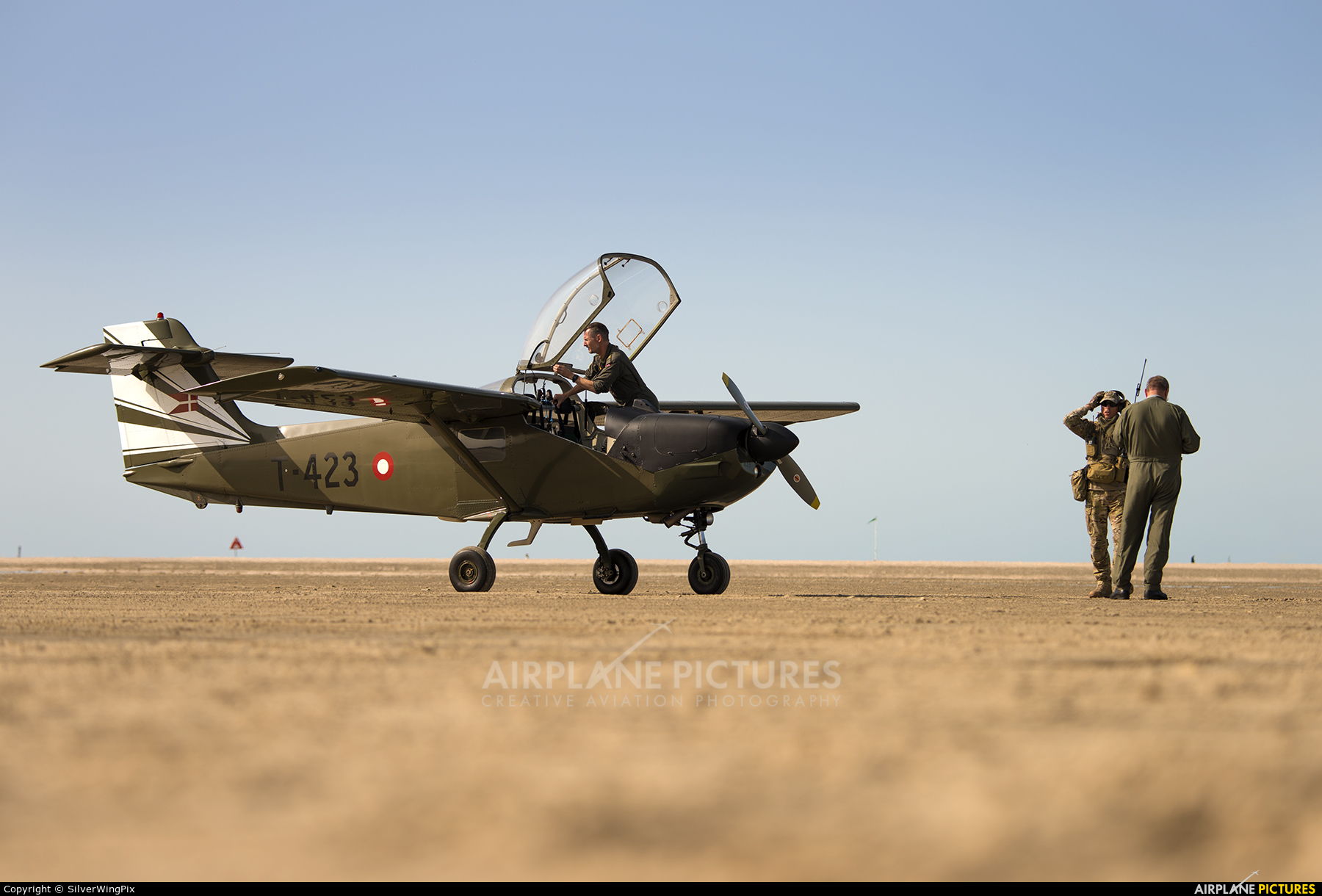 Denmark - Air Force T-423 aircraft at Off Airport - Denmark