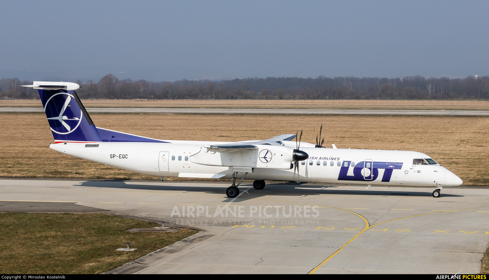 LOT - Polish Airlines SP-EQC aircraft at Ostrava Mošnov