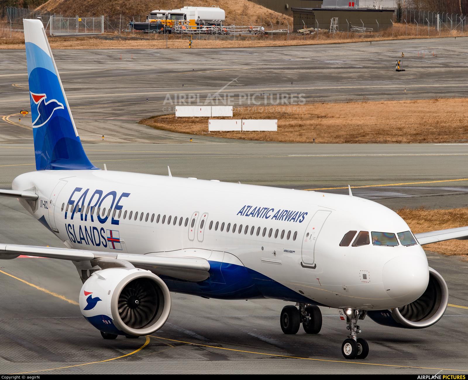 Atlantic Airways OY-RCL aircraft at Trondheim - Vaernes