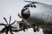A400M at Prague on a military training flight title=