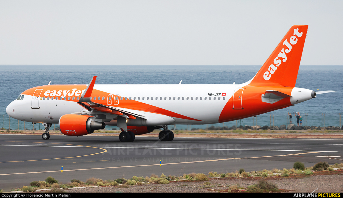 easyJet Switzerland HB-JXR aircraft at Lanzarote - Arrecife