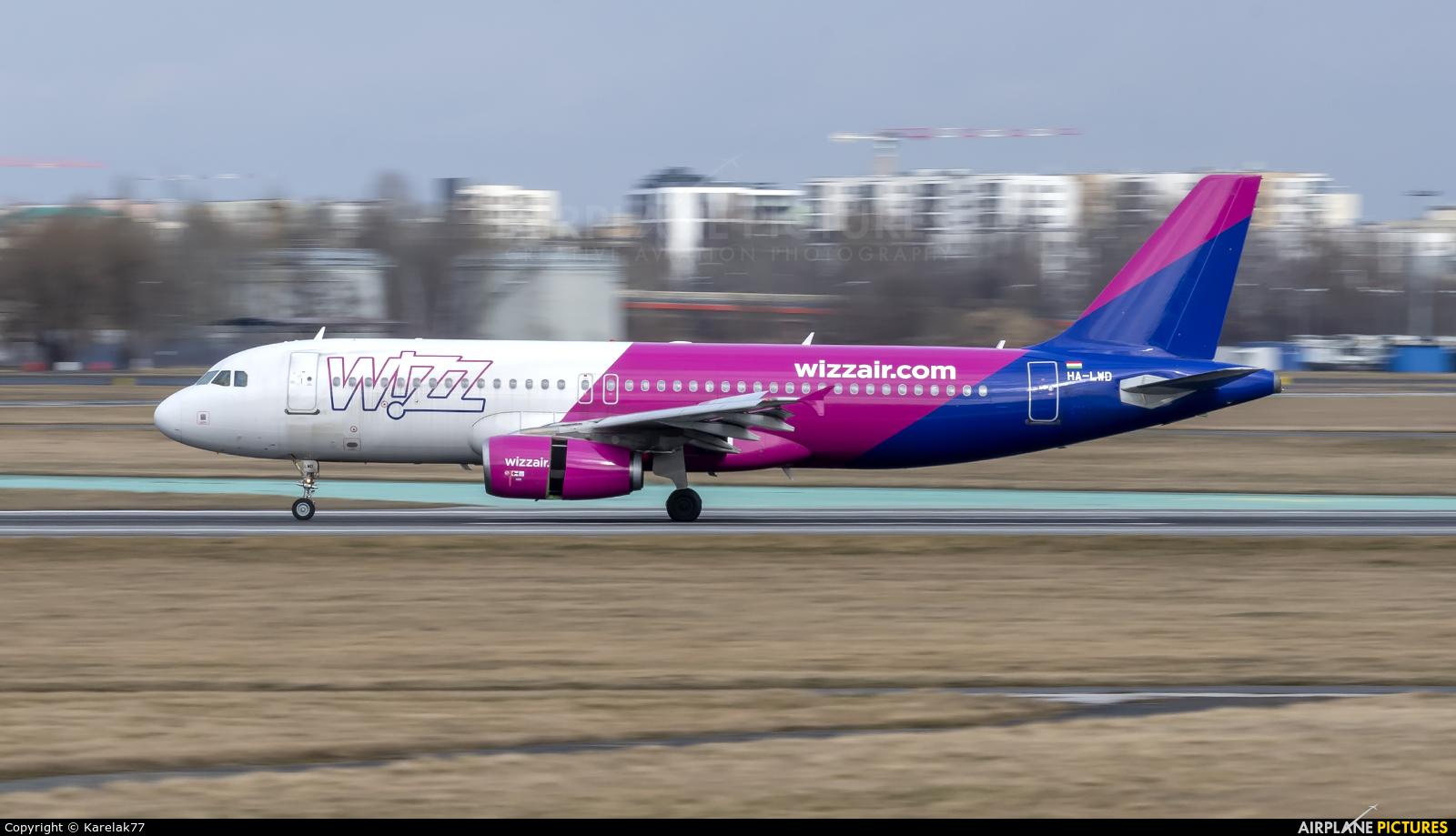 Wizz Air HA-LWD aircraft at Warsaw - Frederic Chopin
