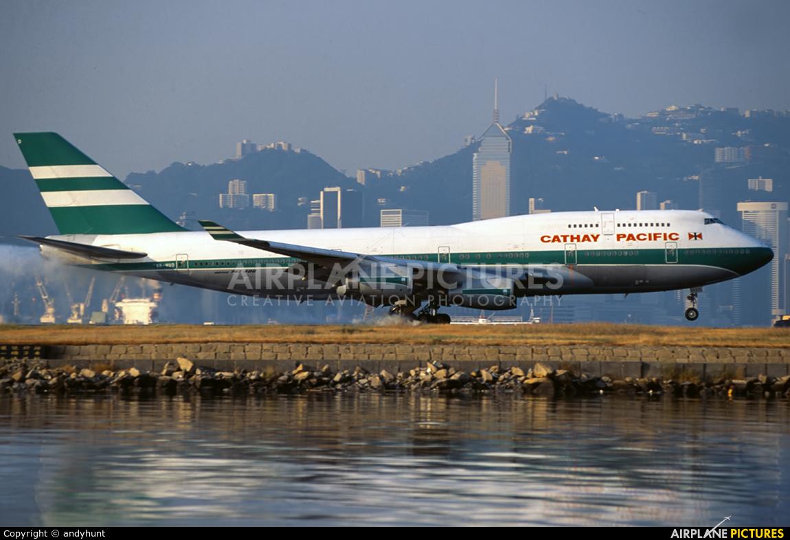 Cathay Pacific VR-HUD aircraft at HKG - Kai Tak Intl CLOSED