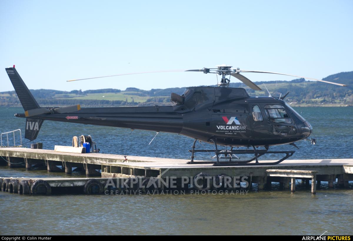 Volcanic Air Safaris ZK-IVA aircraft at Lake Rotorua