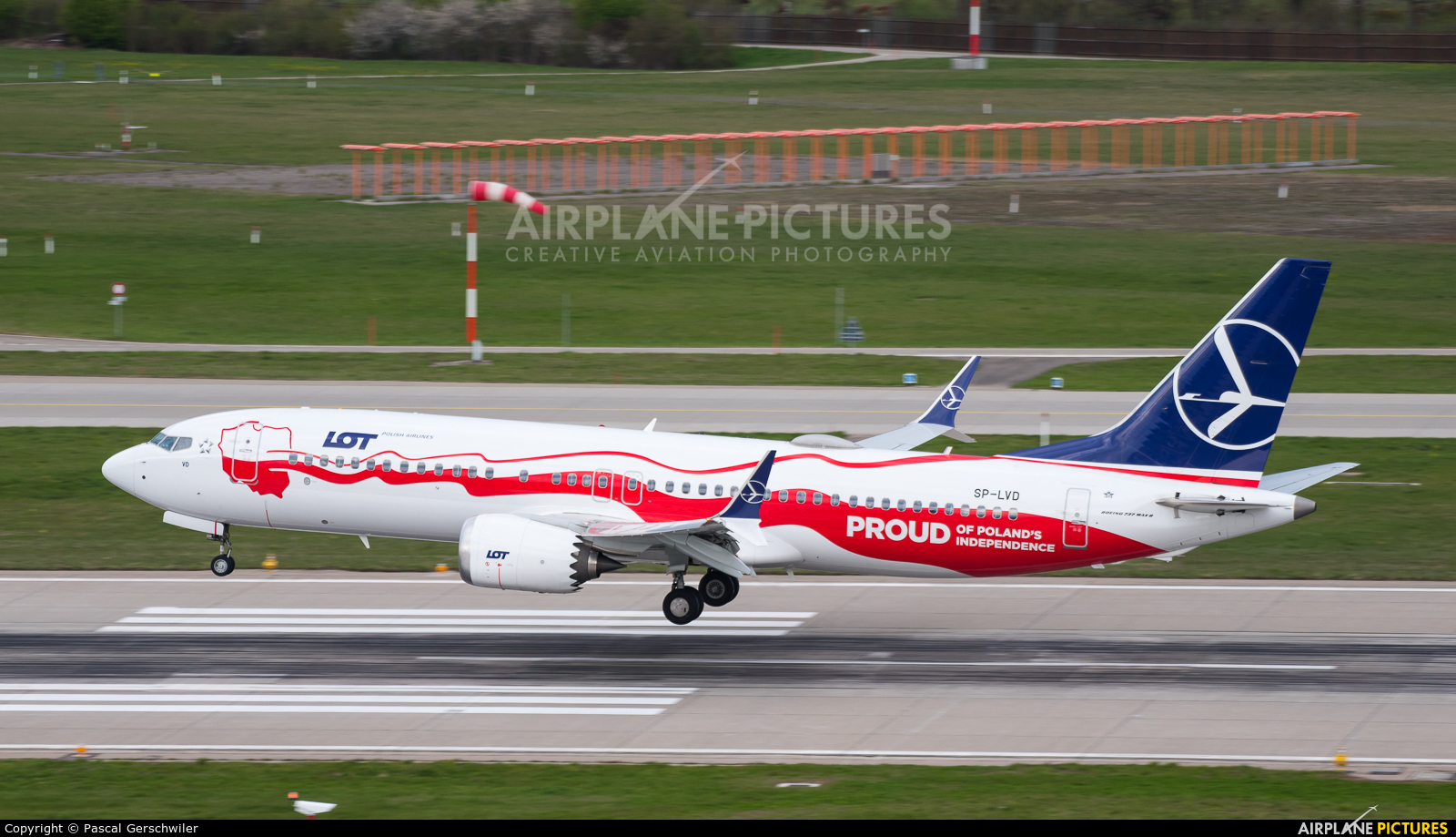 LOT - Polish Airlines SP-LVD aircraft at Zurich