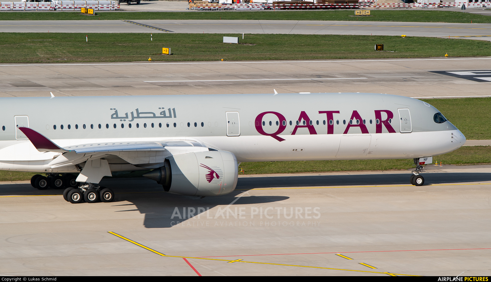 Qatar Airways A7-ANF aircraft at Zurich