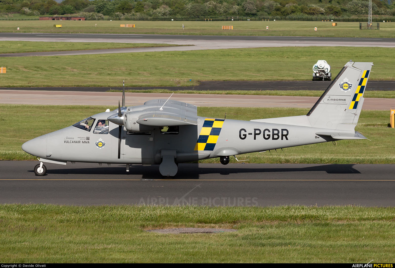 Greater Manchester Police G-PGBR aircraft at Manchester
