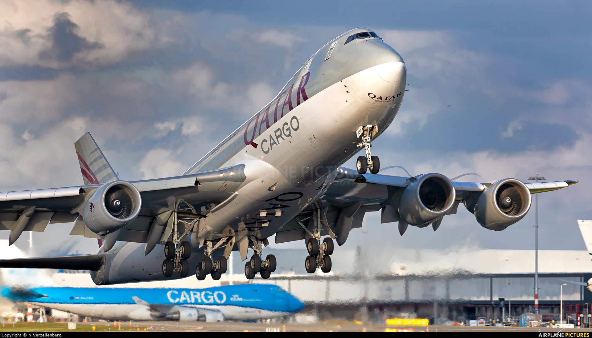 Qatar Airways Cargo A7-BGA aircraft at Amsterdam - Schiphol