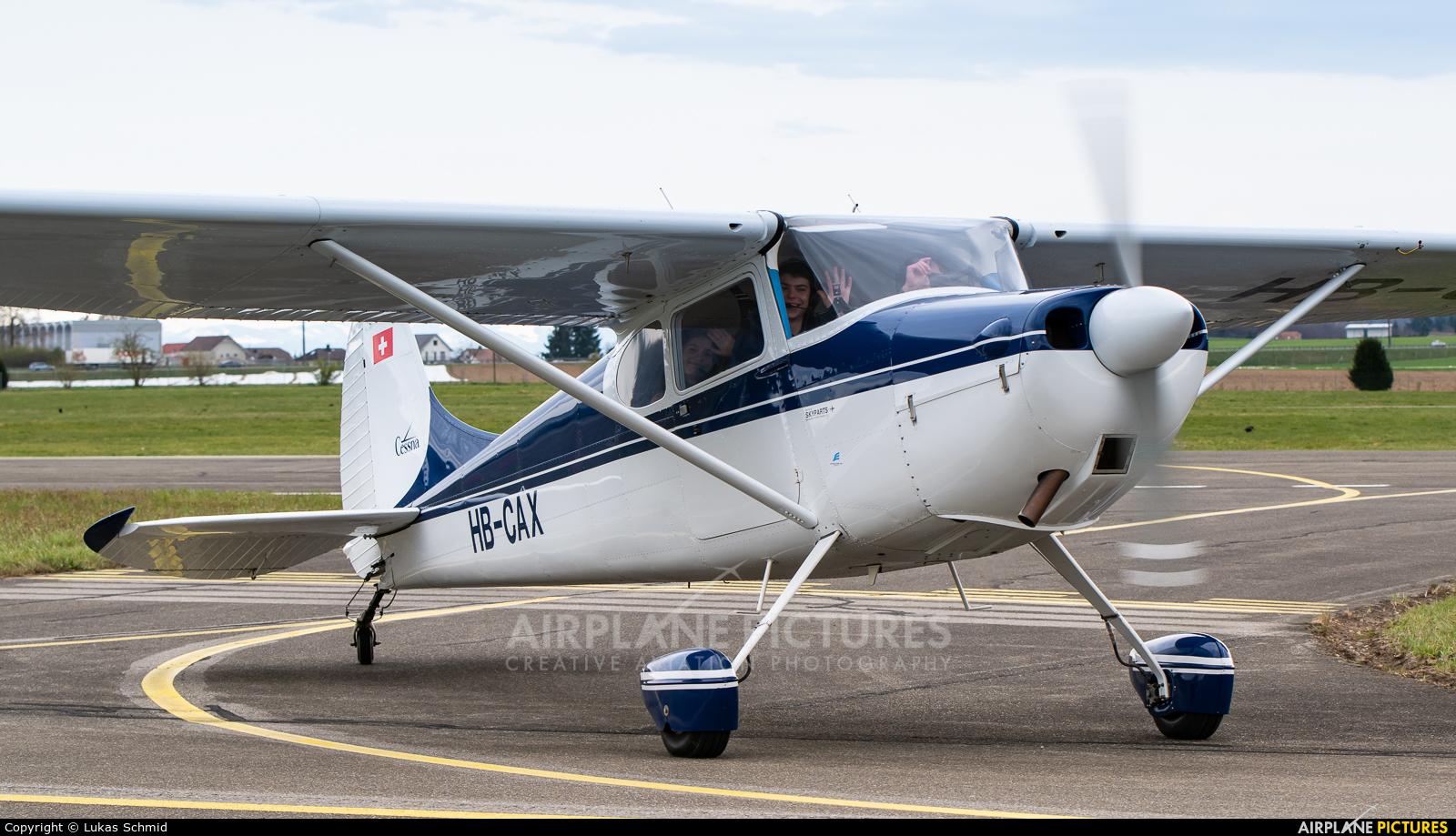Private HB-CAX aircraft at Birrfeld