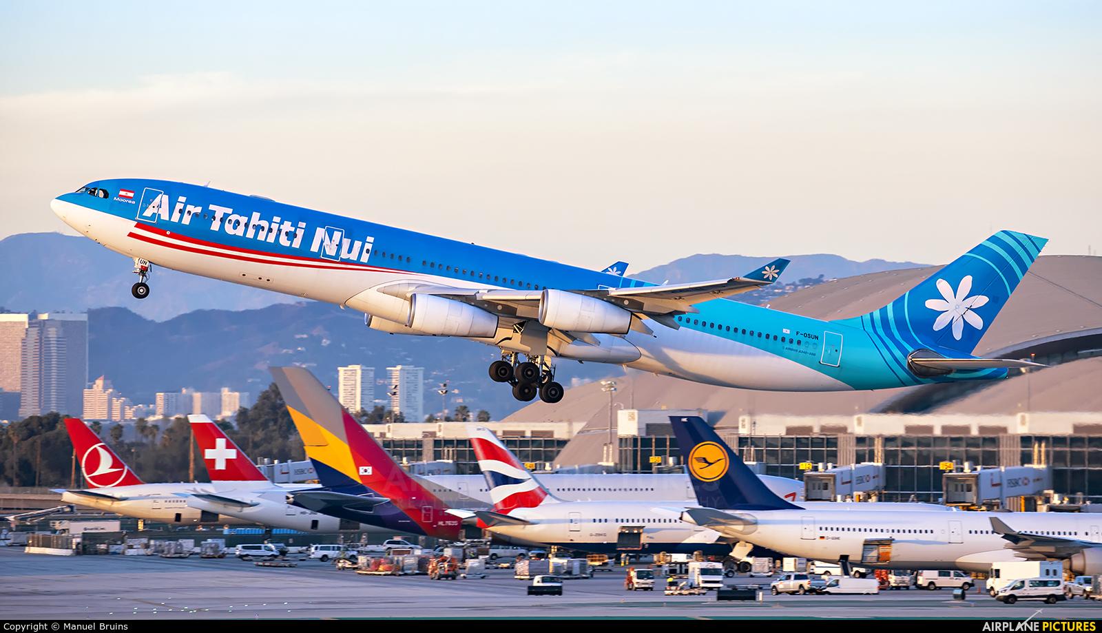 Air Tahiti Nui F-OSUN aircraft at Los Angeles Intl
