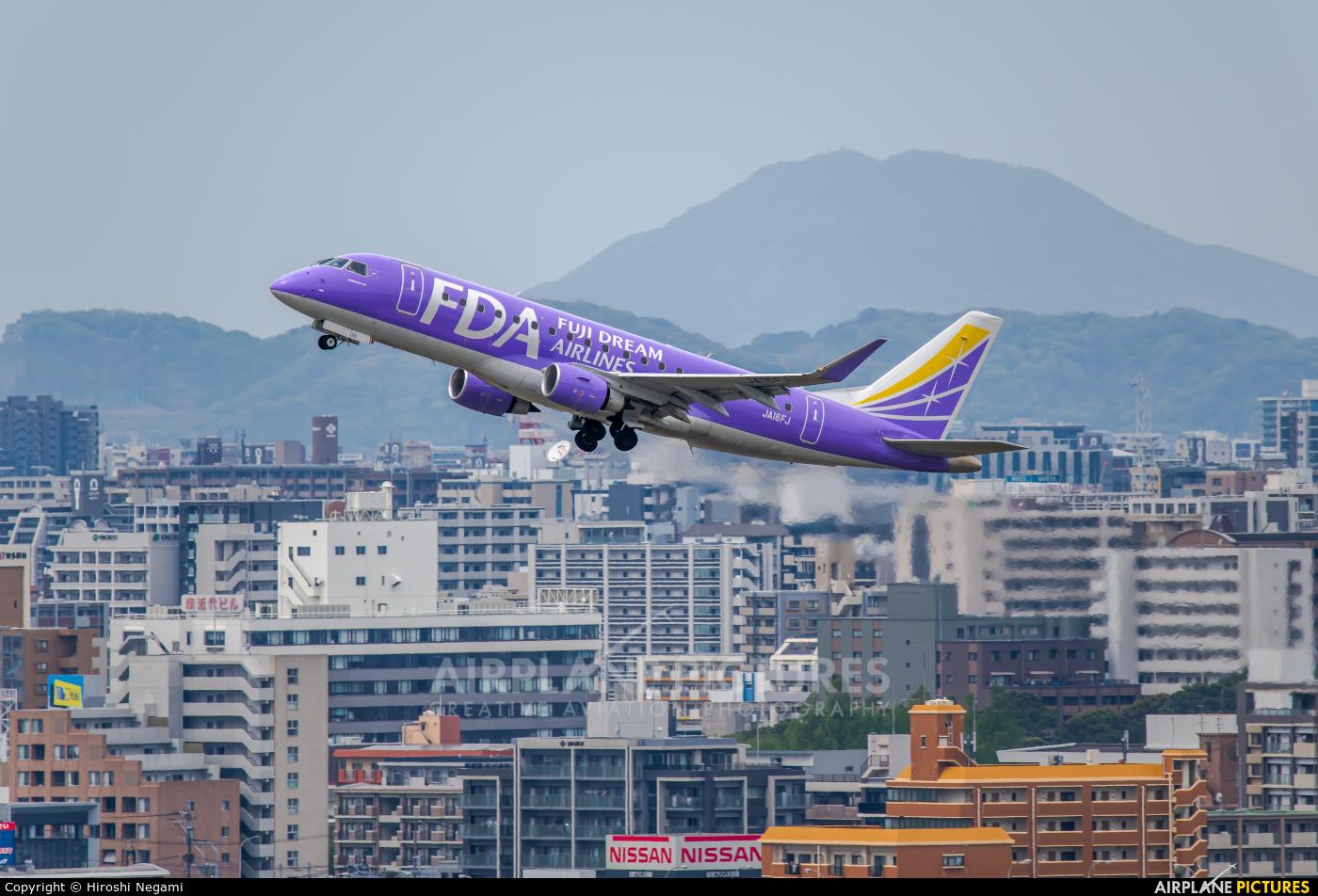 Fuji Dream Airlines JA16FJ aircraft at Fukuoka