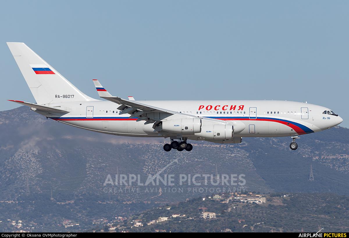 Rossiya RA-96017 aircraft at Athens - Eleftherios Venizelos