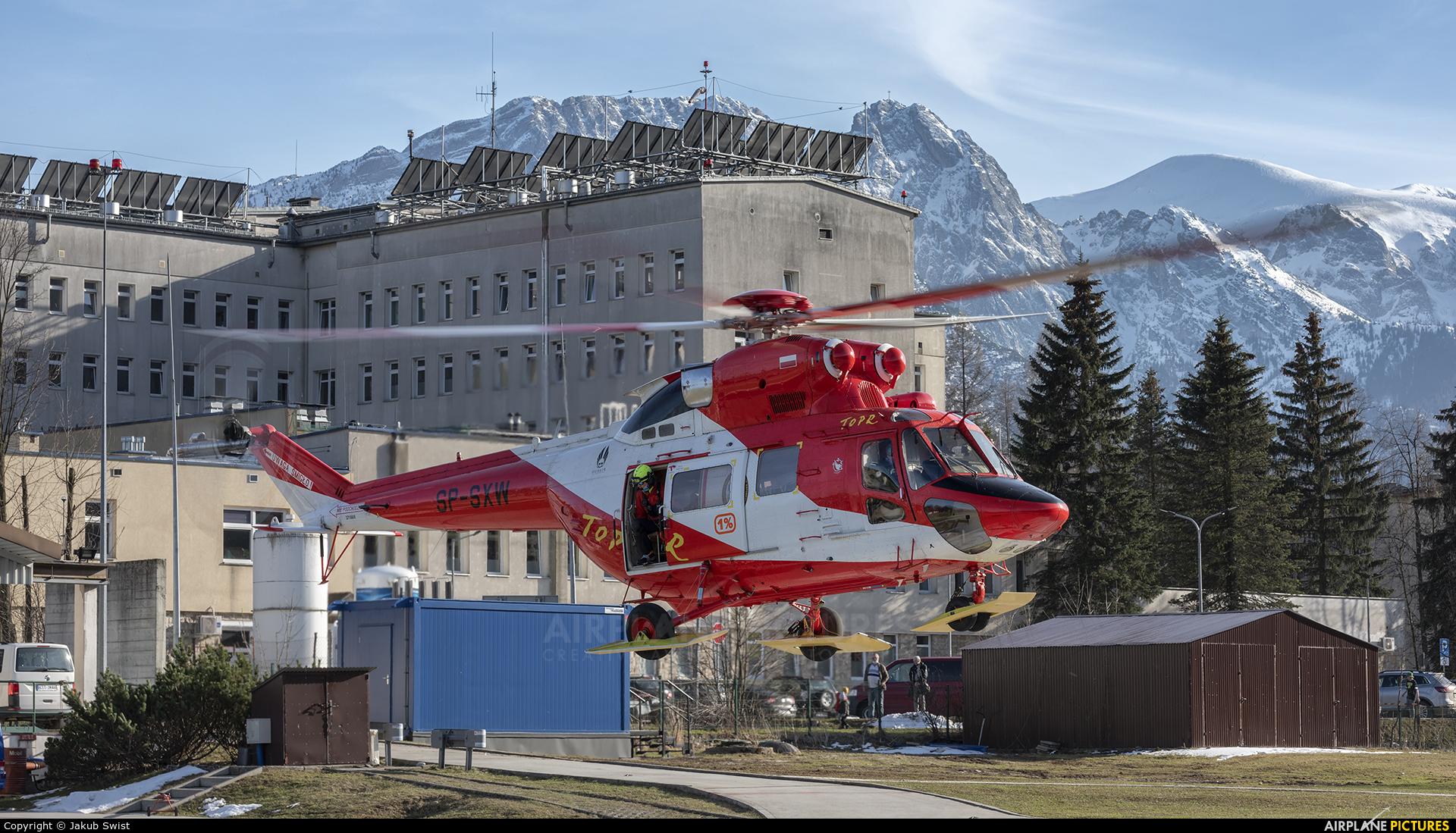 Tatrzanskie Ochotnicze Pogotowie Ratunkowe SP-SXW aircraft at Zakopane, Landing Site of Tatra Volunteer Ambulance Service - Poviat Hospital