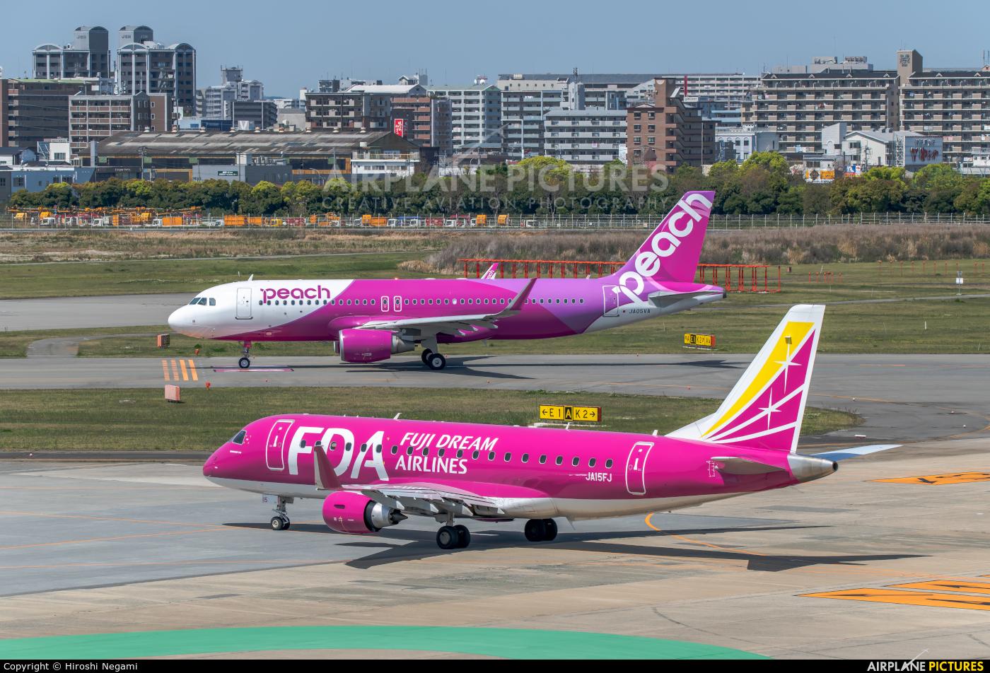 Fuji Dream Airlines JA15FJ aircraft at Fukuoka
