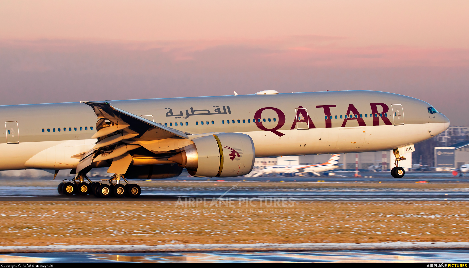 Qatar Airways A7-BAK aircraft at Warsaw - Frederic Chopin