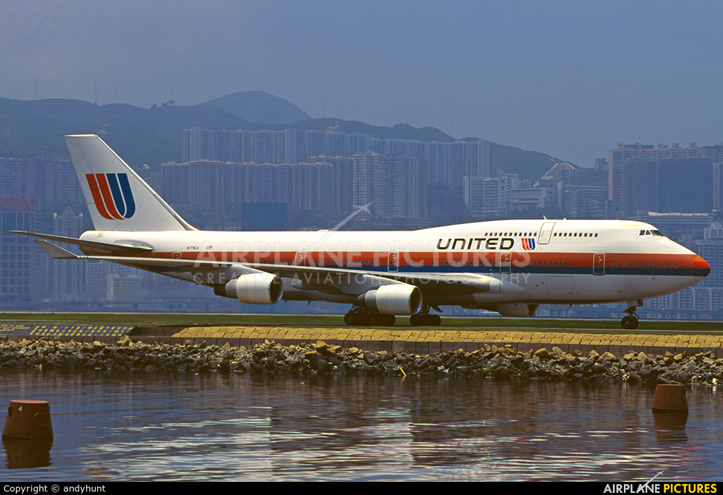 United Airlines N179UA aircraft at HKG - Kai Tak Intl CLOSED