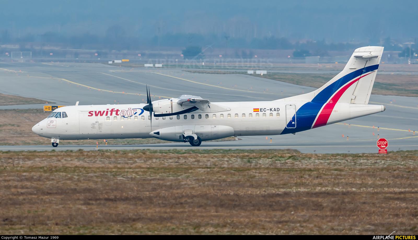 Swiftair EC-KAD aircraft at Katowice - Pyrzowice
