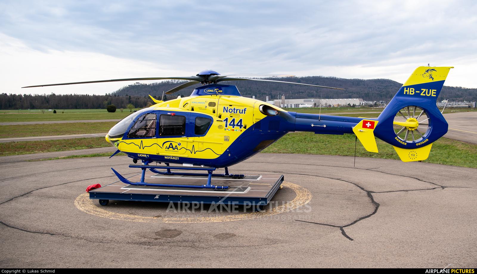 Lions Air HB-ZUE aircraft at Birrfeld