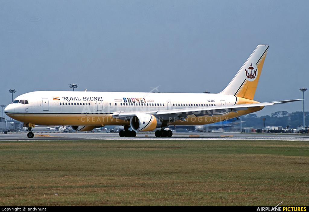 Royal Brunei Airlines V8-RBG aircraft at Singapore - Changi