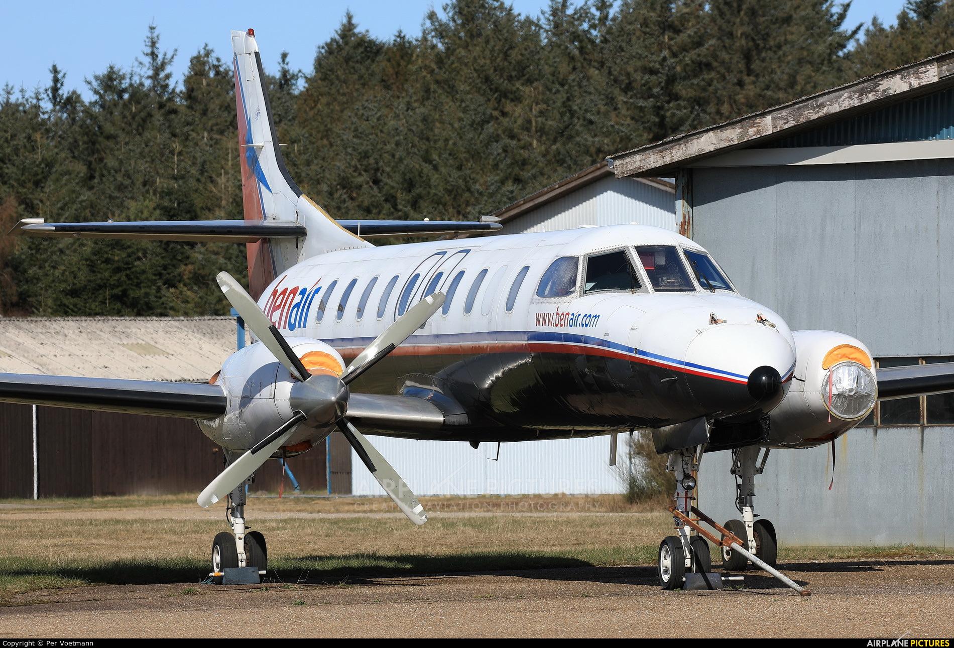 Benair OY-BJP aircraft at Stauning