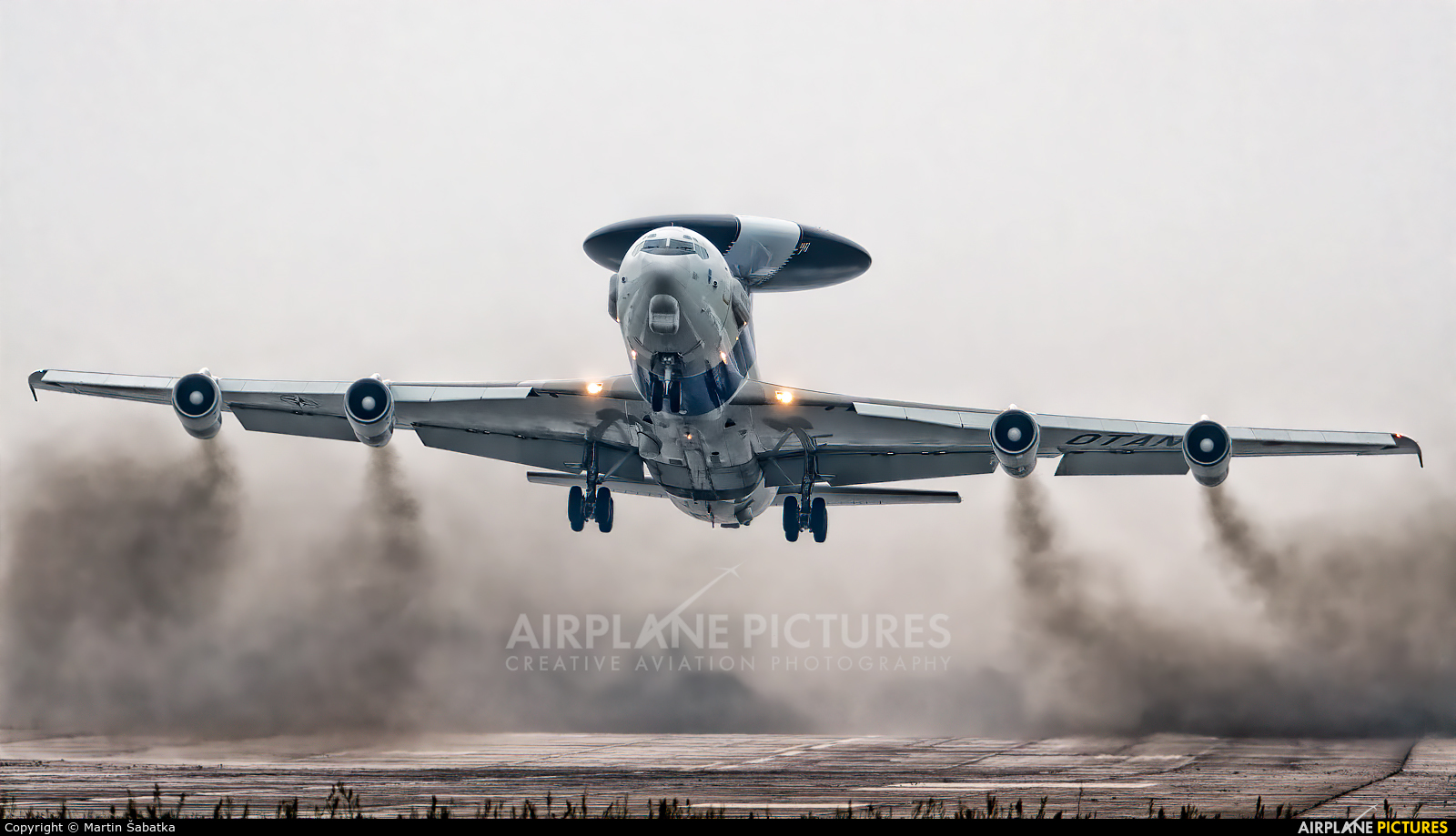 NATO LX-N90450 aircraft at Pardubice