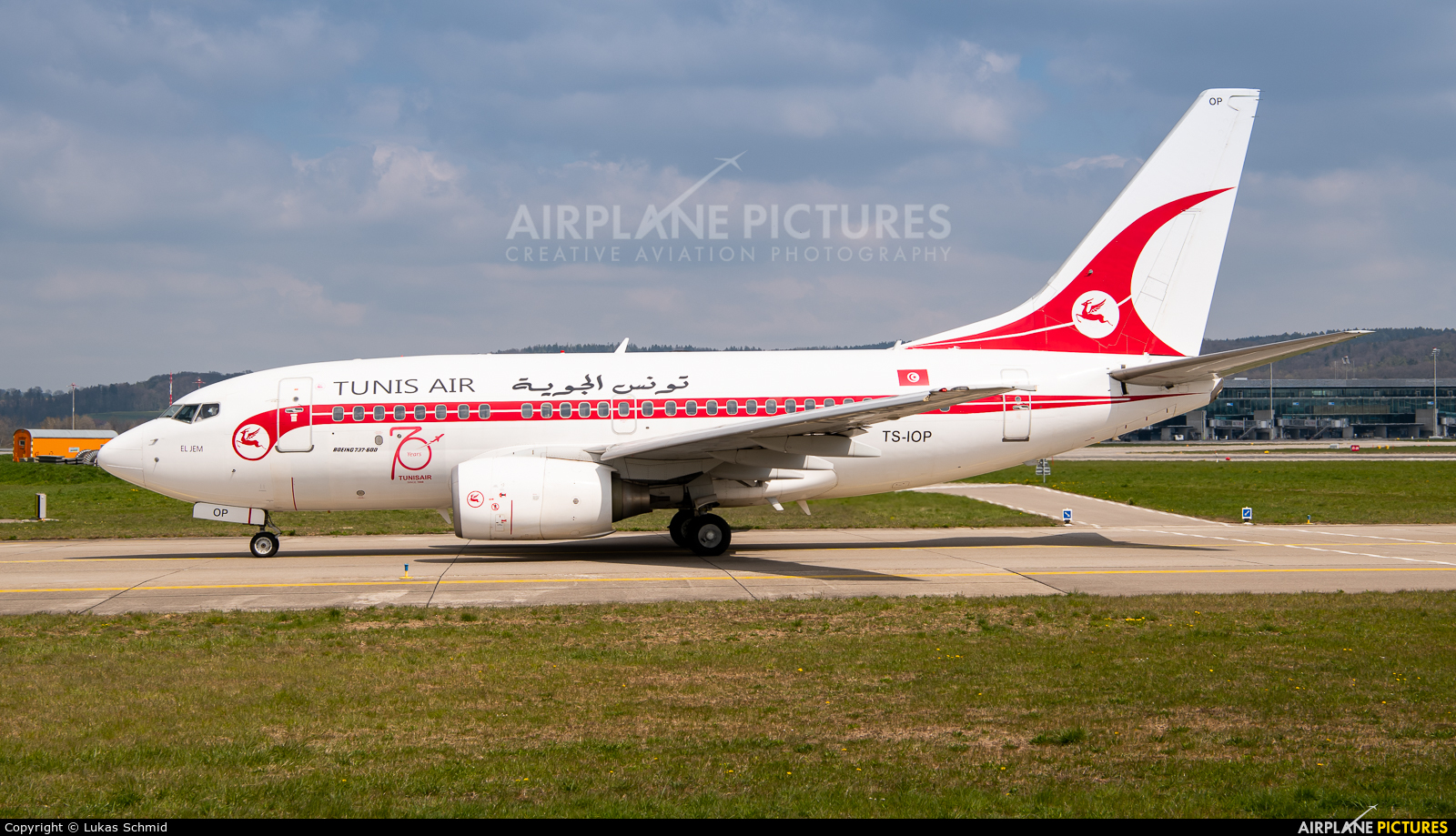 Tunisair TS-IOP aircraft at Zurich