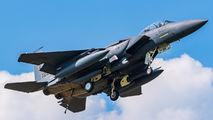 USAF F-15 emergency landing at Łask AB title=