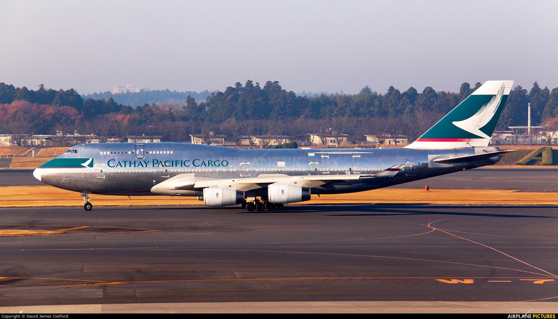 Cathay Pacific Cargo B-HUS aircraft at Tokyo - Narita Intl