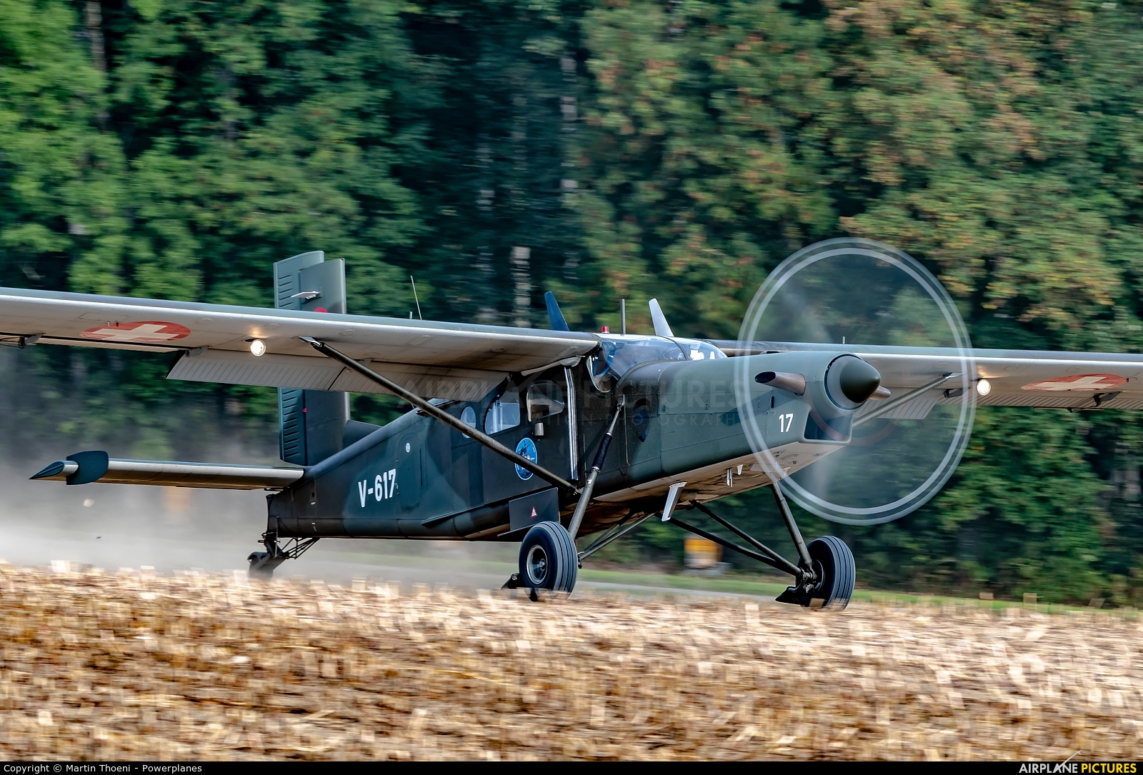Switzerland - Air Force V-617 aircraft at Off Airport - Ebersecken