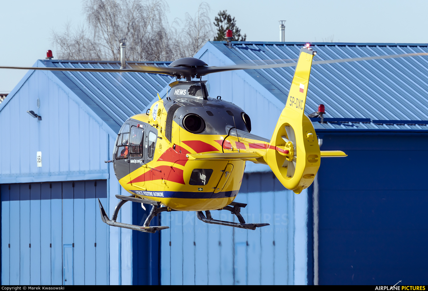 Polish Medical Air Rescue - Lotnicze Pogotowie Ratunkowe SP-DXC aircraft at Warsaw - Babice